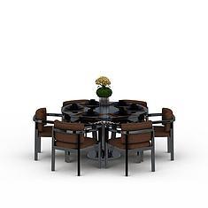 室内餐厅桌椅3D模型3d模型