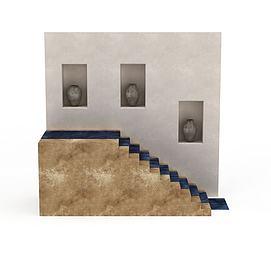 3d室内<font class='myIsRed'>楼梯</font>模型