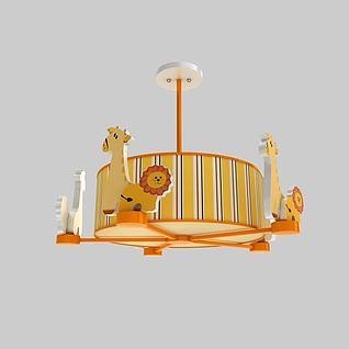 儿童系列灯饰3d模型