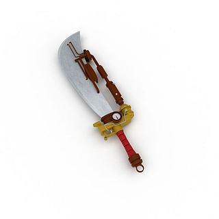 艺术装饰刀3d模型