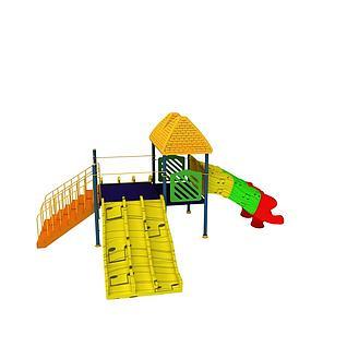 户外儿童滑梯3d模型