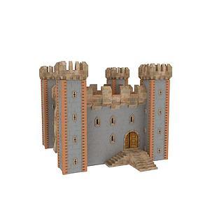 3d<font class='myIsRed'>欧式建筑</font>城堡模型