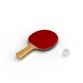 乒乓球拍3d模型