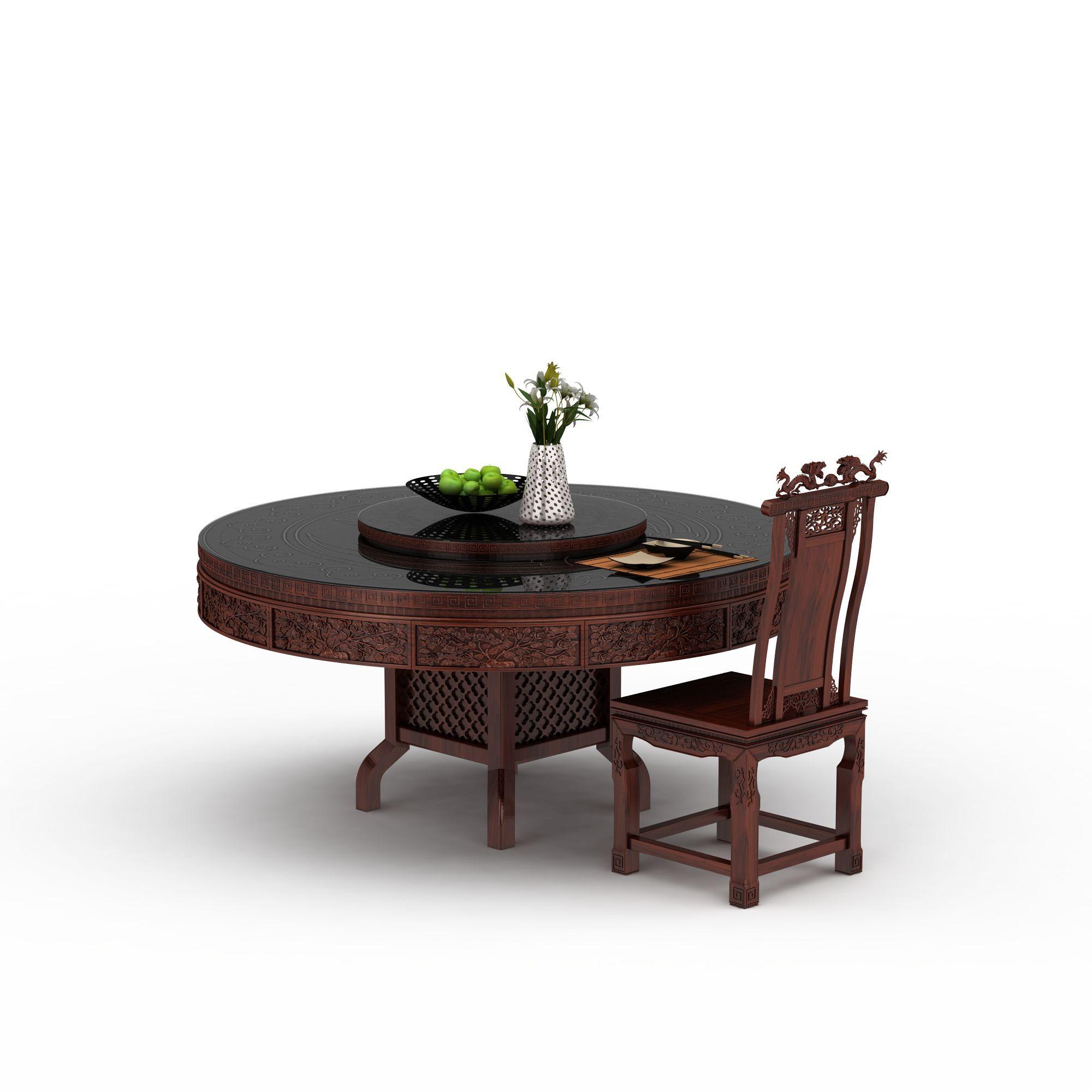 中式桌椅组合高清图下载