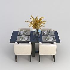 中式餐桌3D模型3d模型