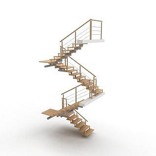 室内家装楼梯3d模型