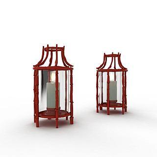现代蜡烛陈设3d模型