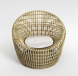 休闲编织椅3d模型