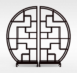 中式<font class='myIsRed'>博古架</font>3d模型