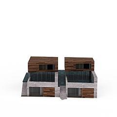现代房屋建筑模型3d模型