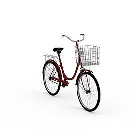 女士自行车模型