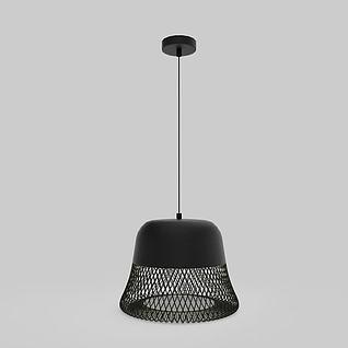 铁艺灯罩吸顶灯3d模型