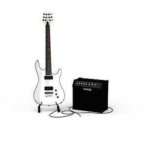 3d<font class='myIsRed'>电吉他</font>模型