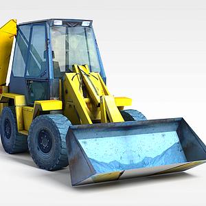 小型推土機模型3d模型