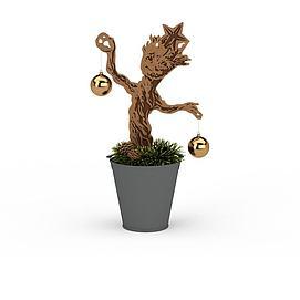 3d装饰<font class='myIsRed'>圣诞</font>树模型