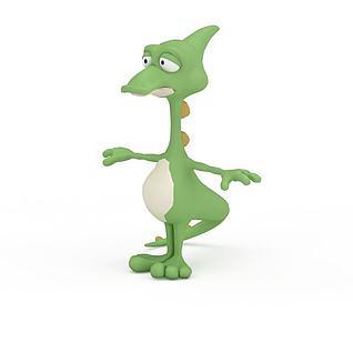 卡通恐龙3d模型