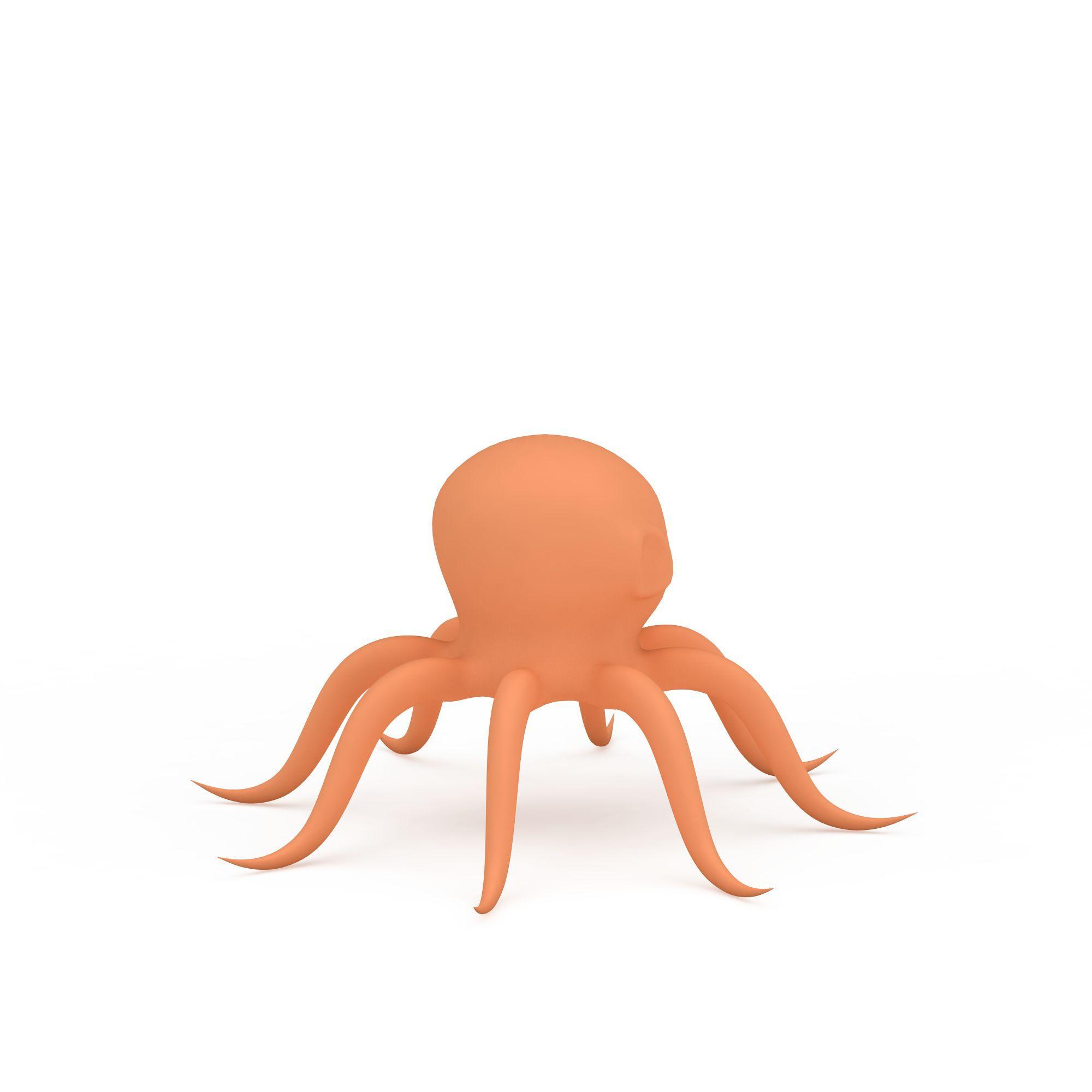 动物 水生类 卡通章鱼3d模型 卡通章鱼png高清图  卡通章鱼高清图详情