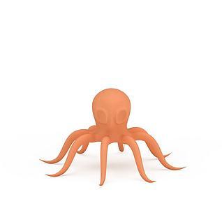 卡通章鱼3d模型
