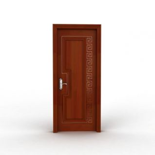 室内实木复合门3d模型