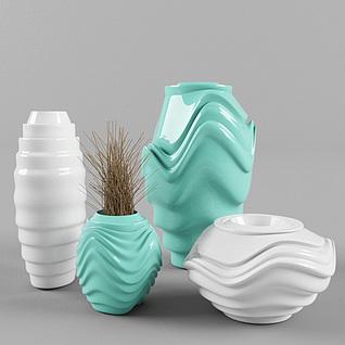 现代陶瓷瓶3d模型