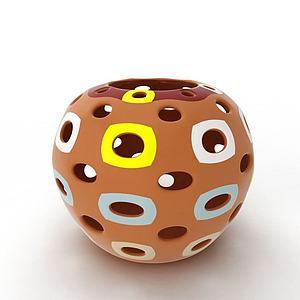 現代精美陶瓷罐子模型