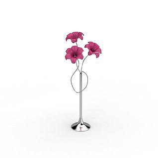 铁艺装饰假花摆件3d模型