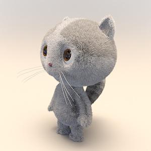 卡通湯姆貓模型