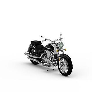 雅马哈摩托车3d模型