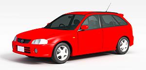 3d家用<font class='myIsRed'>小汽车</font>模型