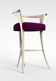 吧台创意高脚椅3d模型