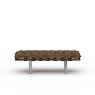 多人休闲椅3d模型