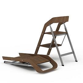 折叠梯子3d模型