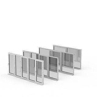 铝合金窗3d模型