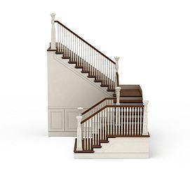 别墅室内楼梯模型