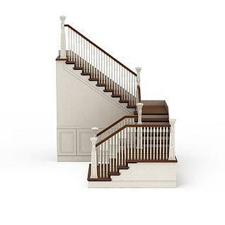 别墅室内楼梯3d模型