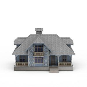 3d小別墅模型