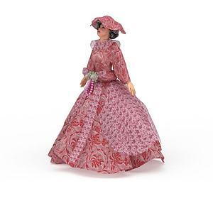 兒童長裙玩偶模型3d模型