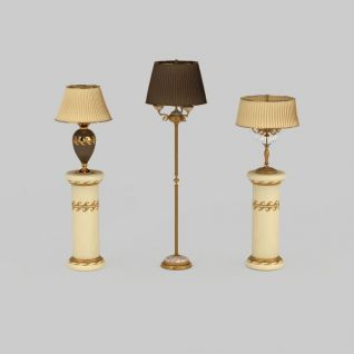 家庭灯具组合3d模型