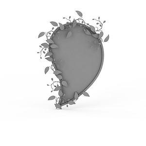 3d水滴狀裝飾品模型