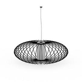 铁艺圆形吊灯3d模型