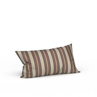条纹靠枕3d模型