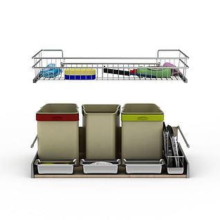 清洁用品3d模型