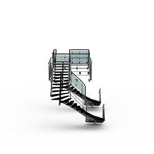 办公室旋转楼梯模型