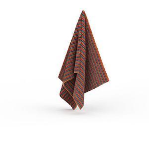 卫浴毛巾模型