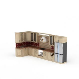厨房橱柜3d模型