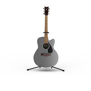 民谣吉他3d模型