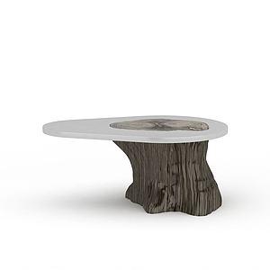 3d仿木樹樁桌模型