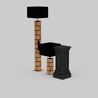 别墅陈设灯3d模型