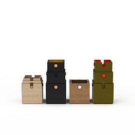 3d折叠箱模型