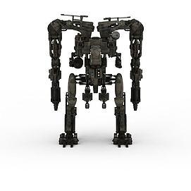 3d军事<font class='myIsRed'>机器人</font>模型